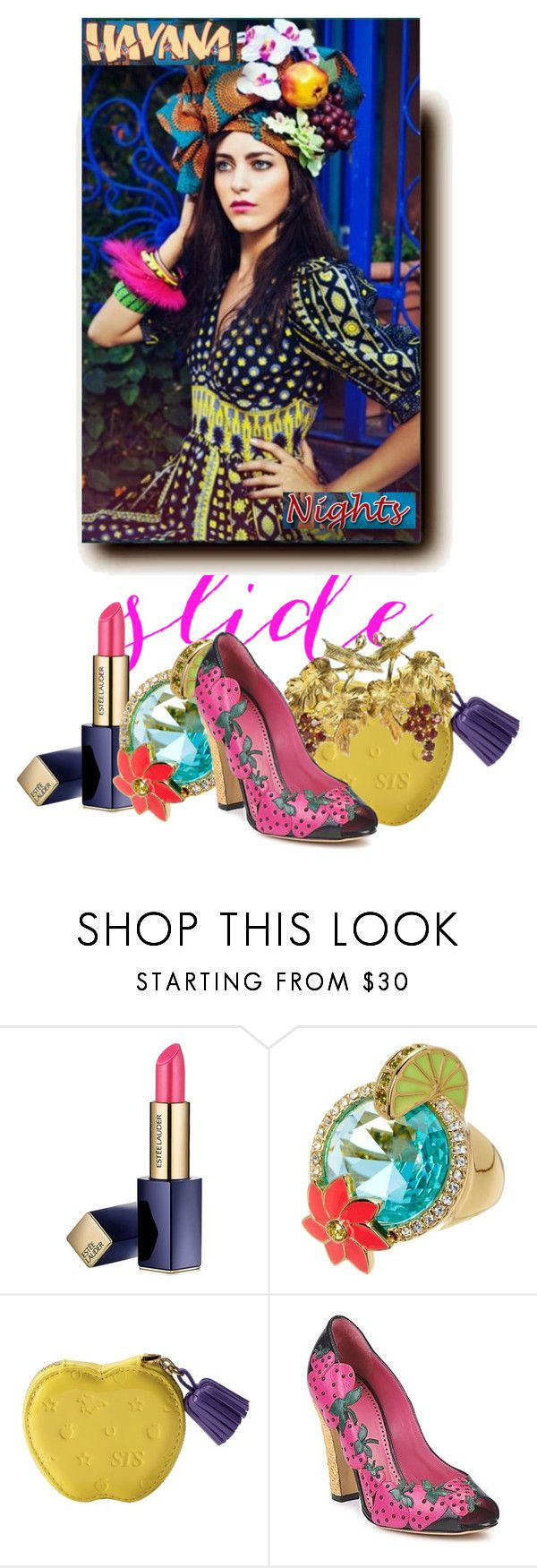 """Invited me to a Havana Nights party #1."" by babysnail ❤ liked on Polyvore featuring Estée Lauder, Kate Spade and Moschino Cheap & Chic"