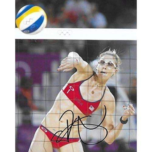 Kerri Walsh Jennings, USA Olympic, Volleyball Player, Signed, Autographed, 8x10 Photo, a COA with the Proof Photo of Kerri Signing Will Be Included