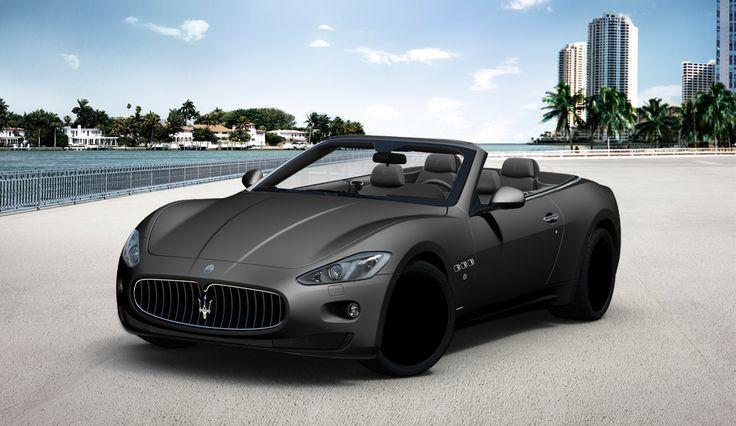 cool Maserati GranTurismo Convertible in Matte Black...  CARS Check more at http://autoboard.pro/2017/2017/02/01/maserati-granturismo-convertible-in-matte-black-cars/