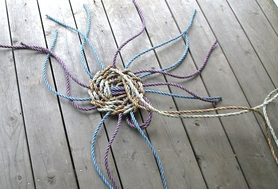 How To Weave A String Basket : The best images about rope twine string on