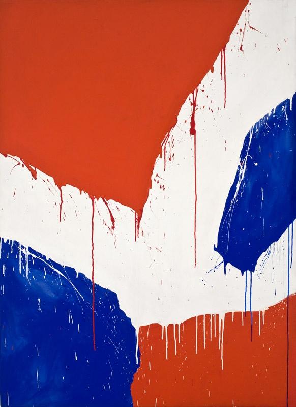 Serge Lemoyne - Sans titre - Série Bleu-Blanc-Rouge, 1978  Acrylique sur toile  168 x 122 cm (66'' x 48'')
