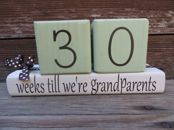 Baby Countdown Blocks Pregnancy Blocks New by DaisyBlossomCreation