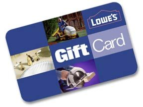 This is #1 on my wish list!! Lowe's Gift Card  =)  -Jamie
