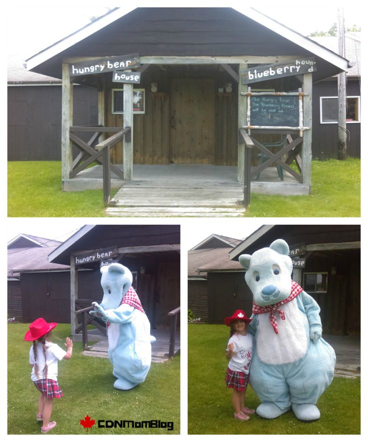 French River Trading Post and one of the popular Hungry Bear mascots. Canada
