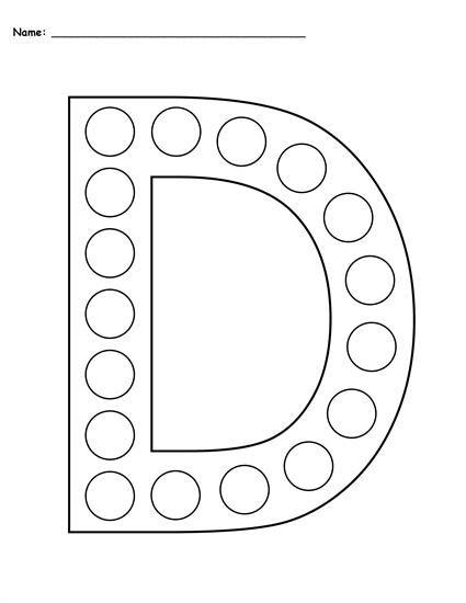 Letter D Do A Dot Printables Uppercase Lowercase Letter D Worksheet Do A Dot Dot Worksheets Preschool letter d worksheets free