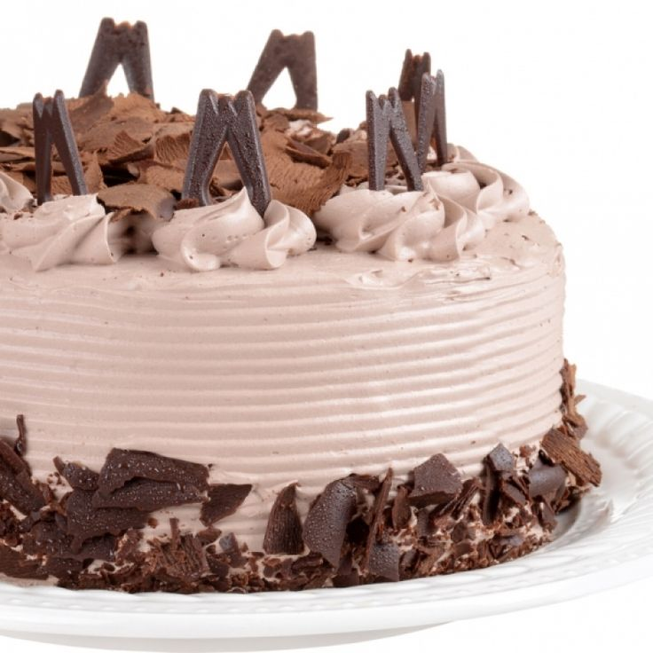 A delicious moist white cake with a layer of hazelnut ganache and delicious chocolate frosting.
