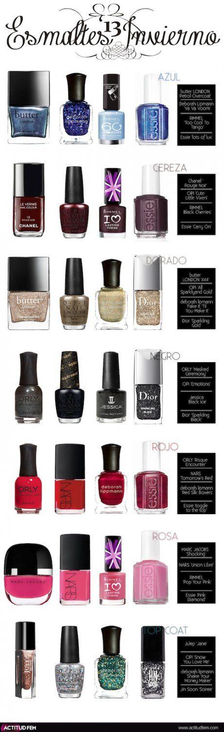 85 best Esmaltes, color, gelish, lacquer nails images on Pinterest ...