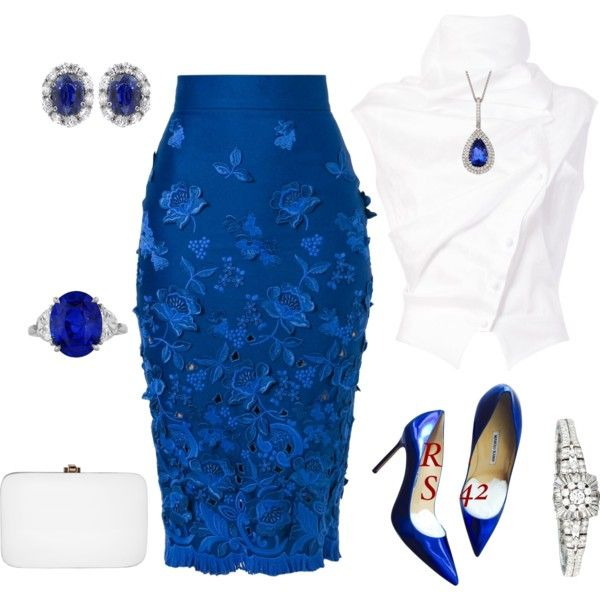outfit 2371 by natalyag on Polyvore featuring Aganovich, Ermanno Scervino, Manolo Blahnik, Rocio and Hamilton