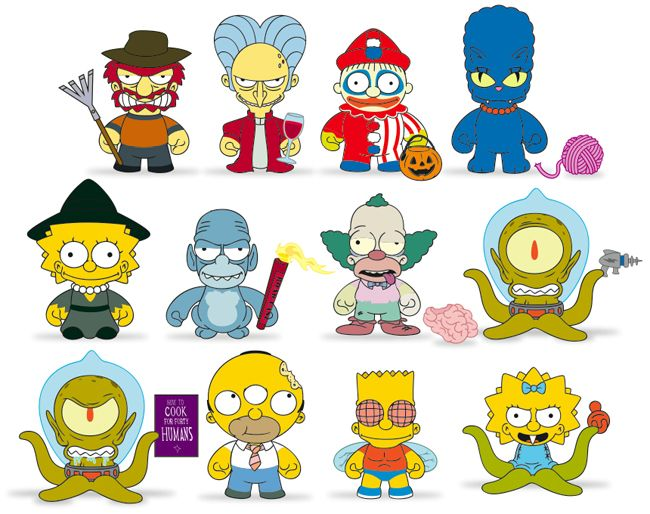 2013-Kidrobot-Simpsons-Treehouse-of-Horror - So want all of these!