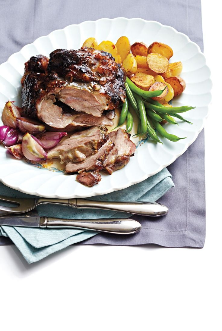 Sweet honey and tender shallots mellow the typically strong flavour of lamb shoulder. Serve with roasted potatoes and steamed greens for a complete meal.