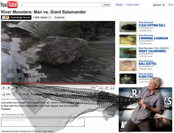 River Monsters. Essendo questo uno spot per un programma TV sugli animali marini, l'idea della rete non mi piace tanto. #youtube #youtubemarketing #youtubetips #youtubetakeover #graphic #design #youtubechannel #marketing #videomarketing