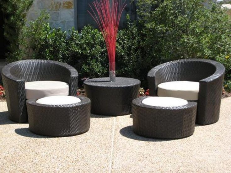 Awesome Outdoor Black Modern Stained Wooden Bistro Seat Cheap Patio Sets With Best  Material