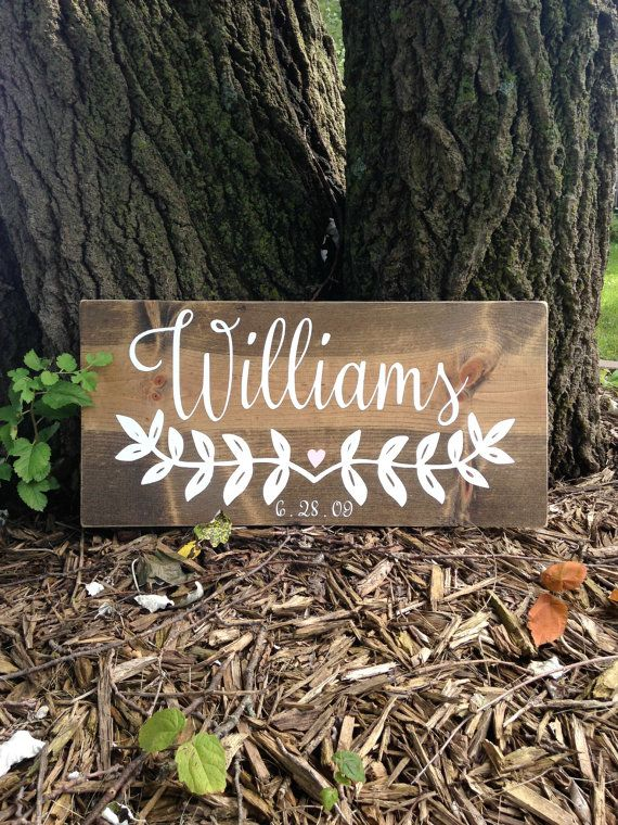 Wood Name Sign, Last Name Sign, Family Name Sign, Wooden Name Sign, Wedding Name Sign, Housewarming Sign, Newlywed Gift, Newlywed Sign