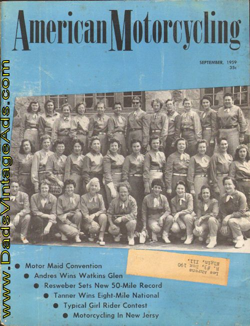 1959 American Motorcycling Magazine – Motor Maid Convention