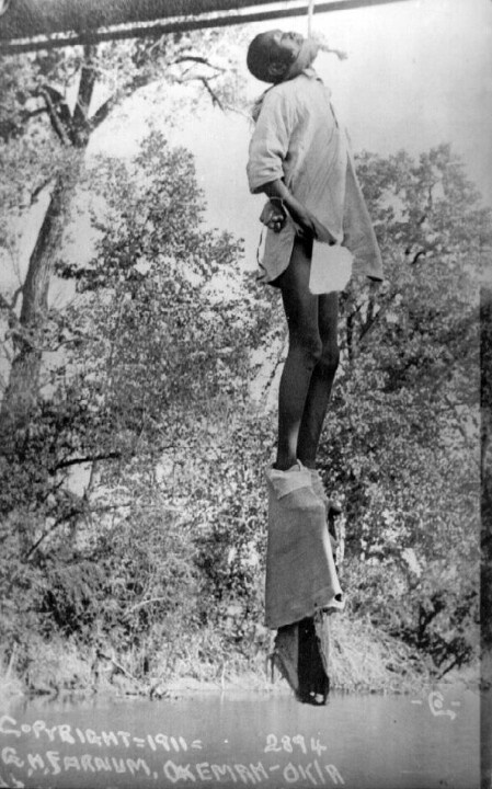 At 15-years old he was lynched from a bridge His mother was also lynched.
