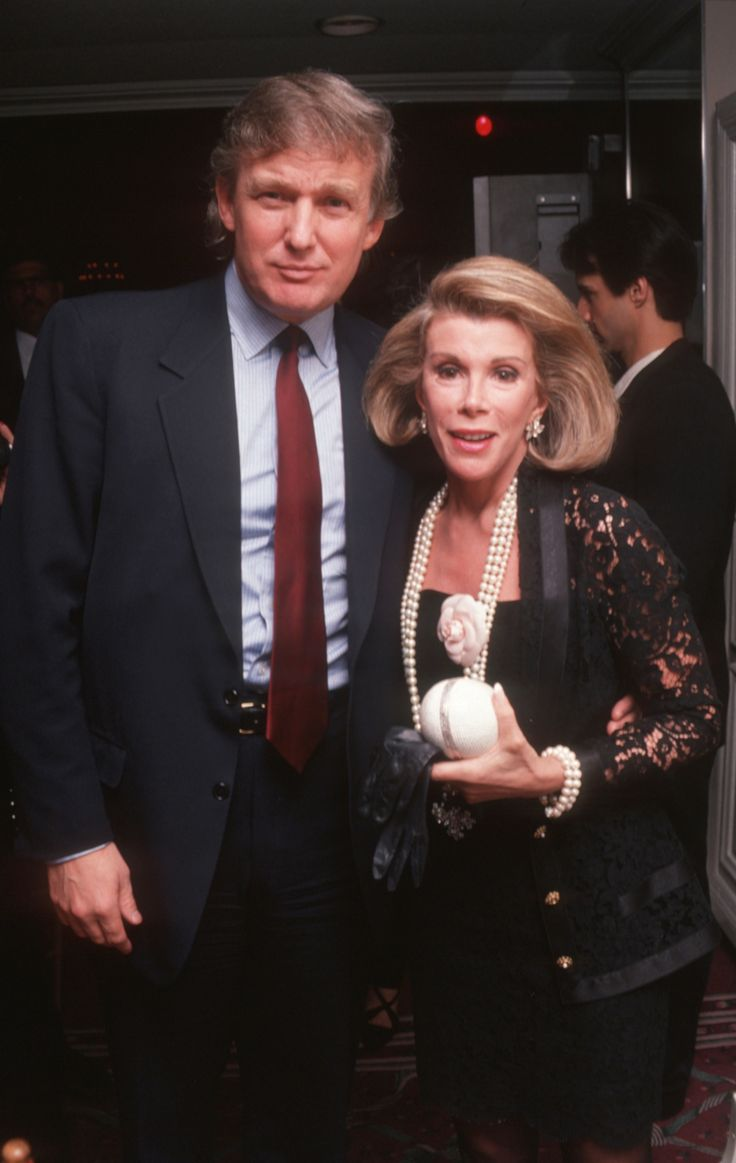 Donald Trump and Joan Rivers during Opening of The Rose Room in the Plaza Hotel at Plaza Hotel Rose Room in New York City, New York, United States. (Photo by Ron Galella, Ltd./WireImage)  via @AOL_Lifestyle Read more: https://www.aol.com/article/news/2017/11/26/trump-now-claims-access-hollywood-tape-might-not-be-authentic/23288469/?a_dgi=aolshare_pinterest#fullscreen