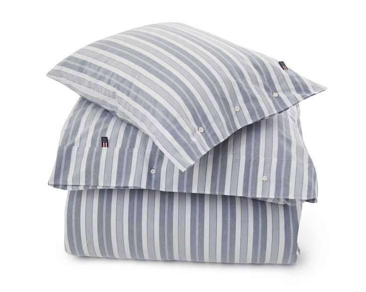 Lexington Pin Point Stripe Bedding blue Spring2016