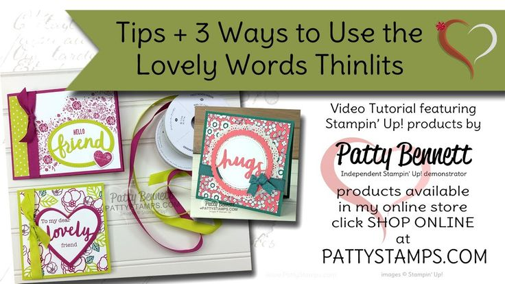 3 Ways to use the Lovely Words thinlits from Stampin' Up!