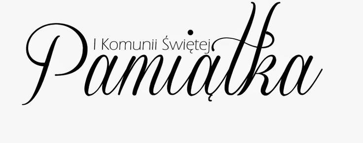 Pami�tka I komunii �wi�tej