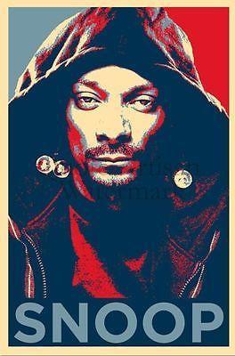 "Snoop Doggy Dogg Music Star Silk Cloth Poster 20 x 13"" Decor 33"