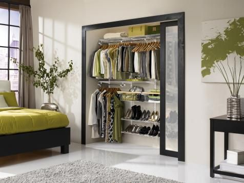 HGTV: Expert tips on small closet organization plus pictures and ideas for transforming a small closet into a functional, well-organized space.