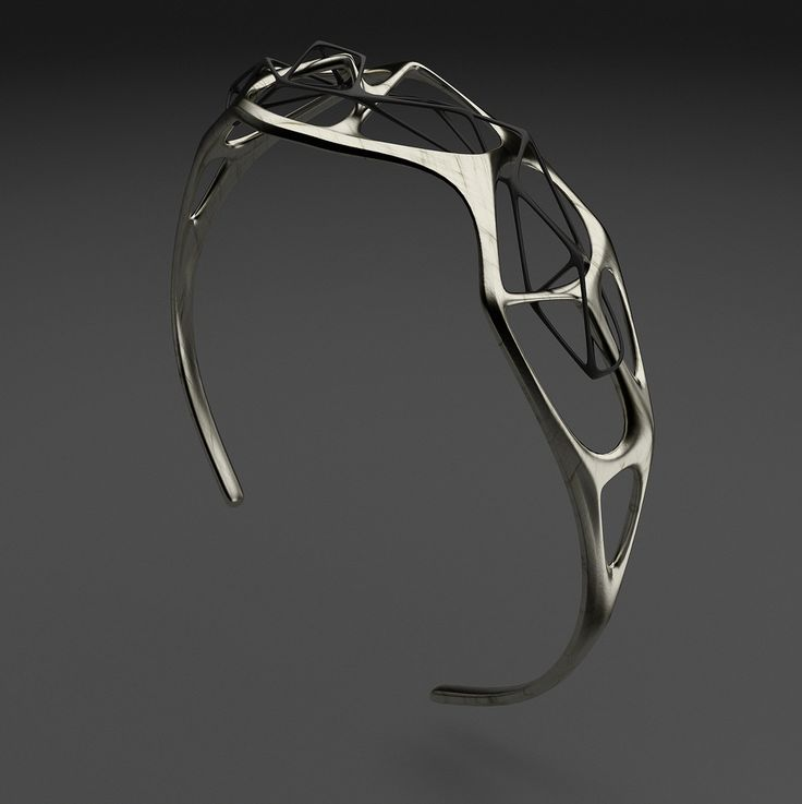 Parametric bracelet created with Vectary Rendered with V-Ray