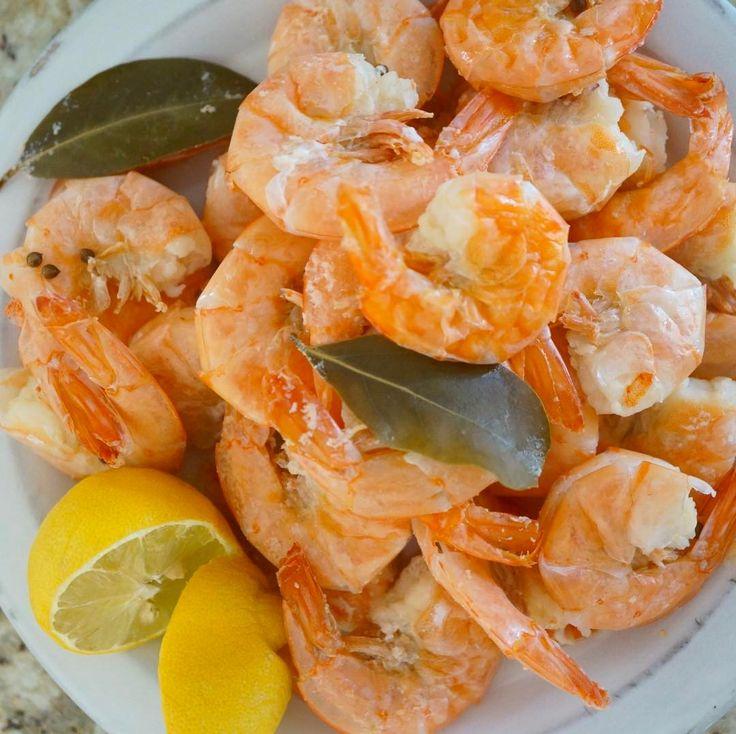 """2-minute Instant Pot Steamed Shrimp! Add large bag of frozen wild shrimp to Instant Pot + 1/2 cup…"""