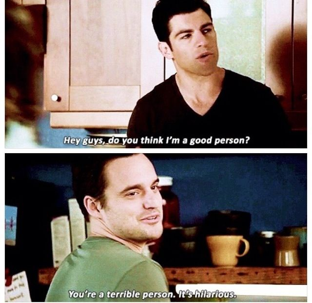 Schmidt an nick- new girl