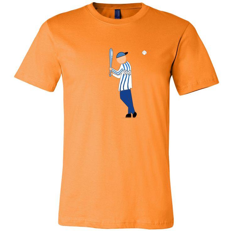 I Am A Baseball Player Men Round Neck Tee Shirt