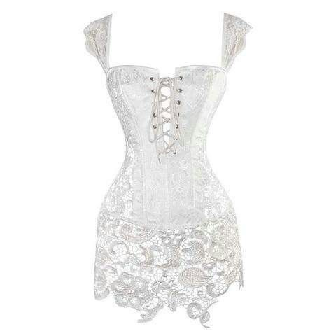 atomic clothing georgous  white corset dress lace
