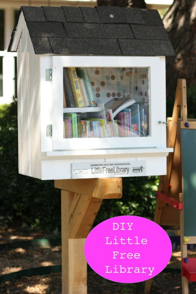 We have one just down the block! Love this, neighborhood idea: DIY little free library