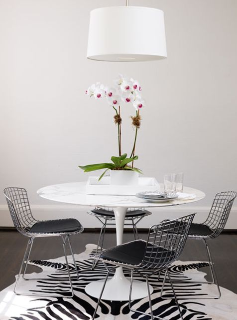 Ferreira Design Modern White Black Dining Space Design With Marble Saa