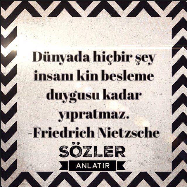 """""""Dünyada hiçbir şey insanı kin besleme duygusu kadar yıpratmaz""""  -Friedrich Nietzsche  #sözler #alıntılar #özlüsözler #güzelsözler #gününsözü #kitap #edebiyat #felsefe #edebiyatkulübü #ilhamverensözler #şiirsokakta #şiirheryerde #albertcamus #felsefe #felsefesözleri #felsefisözler #nietzsche"""