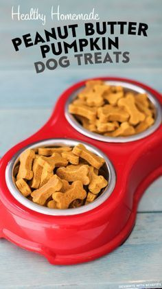 Healthy Homemade Peanut Butter Pumpkin Dog Treats (sugar free, gluten free, dairy free, eggless, vegan) - Healthy Dessert Recipes at Desserts with Benefits