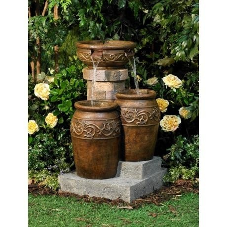 Superior Tuscan Outdoor Patio Garden Floor Water Fountain