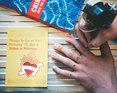 Things To Do Greetings Cards –Get a Tattoo or Piercing www.101thingstodo.co.uk (Birthday) via Richard Horne (elhorno.co.uk)