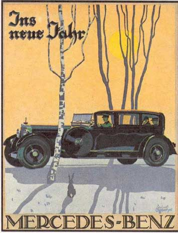 Mercedes Benz Vintage Postcards