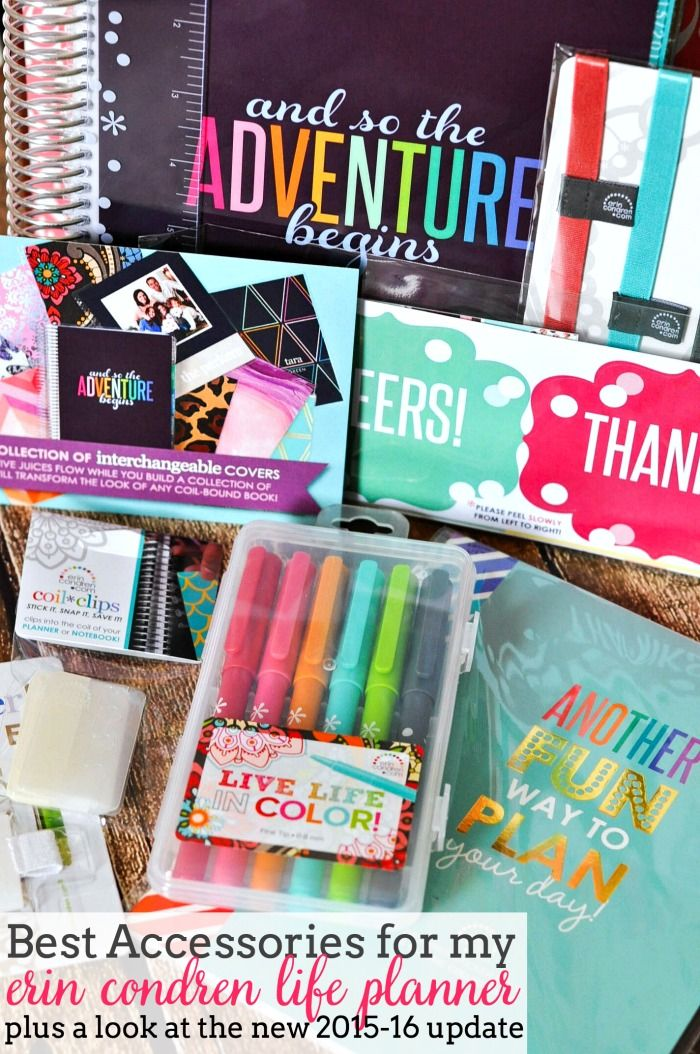 Sharing more about how I use my Erin Condren Life Planner, especially the best accessories for my life planner! Plus - a look into the new 2015-16 version! | The Love Nerds #EClifeplanner
