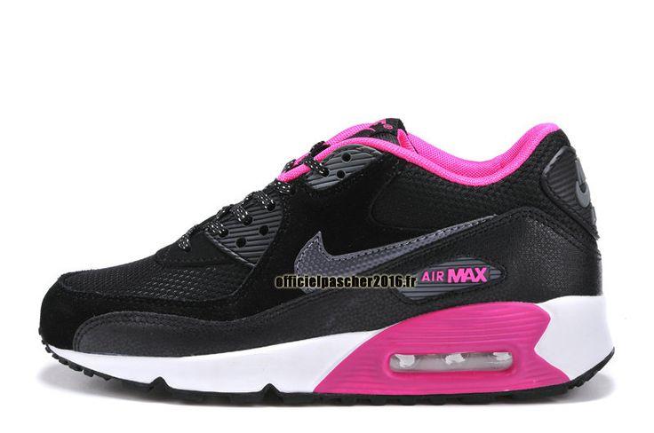 Officiel Nike Air Max 90 SJX Chaussures Nike Sportswear Pas Cher Pour Femme Noir - Blanc