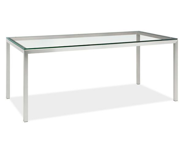 Portica Counter Table With Clear Glass Top   Counter U0026 Bar Tables   Dining    Room U0026 Board