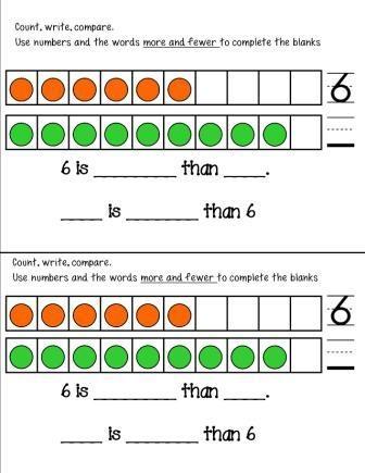 First Grade Math Journals