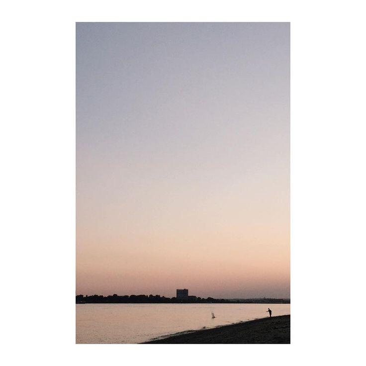 #sunset Elbe, Hamburg