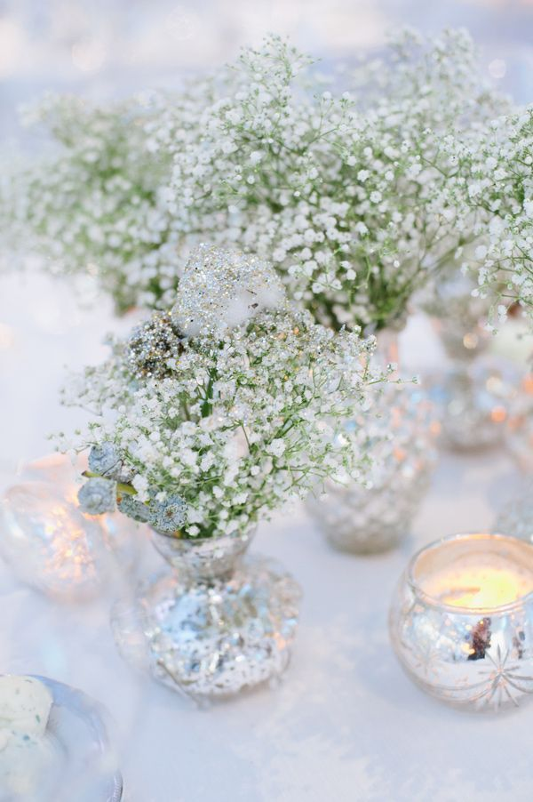 Babys breath & sparkle - replace silver with gold, Go To www.likegossip.com to get more Gossip News!