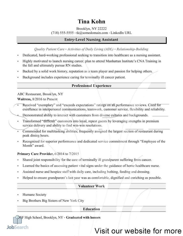 Nursing Assistant Resumes Samples nursing assistant