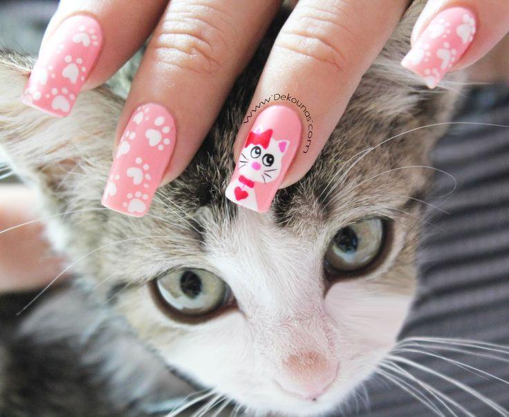 Decoración de uñas gata2-2