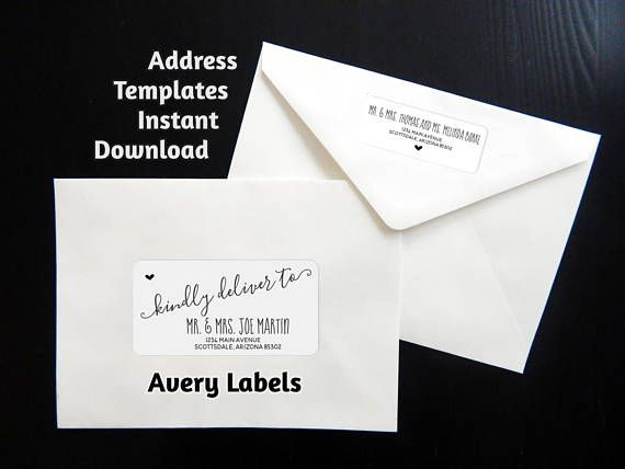 printable address template for envelope labels avery 2 x wedding