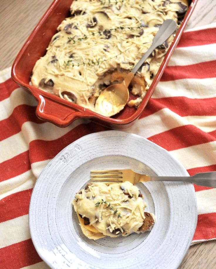 La La Lasagna – Cheesy Polenta Lasagna with Mushrooms and Italian Sausage (Vegan)