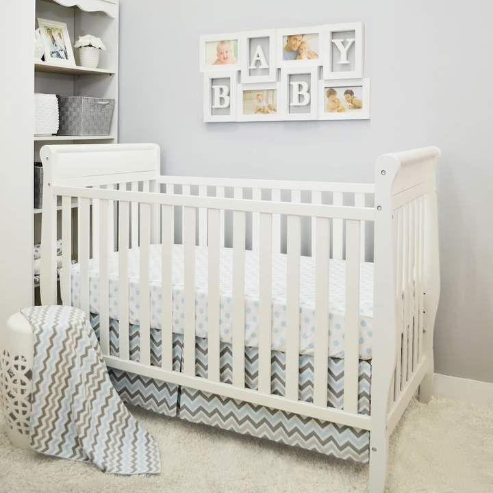 TL Care 3-pc. Polka-Dot & Chevron Crib Bedding Set