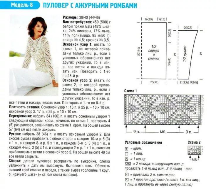 после выпуска ажурная кофта спицами схемы и описание фото буков