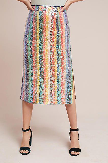 b92b5ca74 Maeve Sequined Palette Midi Skirt - Anthropologie